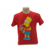 T-Shirt The Simpsons Bart Slurp Originale Ufficiale - Taglia 9-11 anni