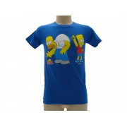 T-Shirt The Simpsons Homer e Bart Originale Ufficiale - Taglia 7-8 anni