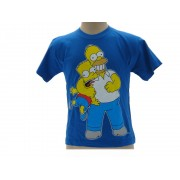 T-Shirt The Simpsons Homer e Bart Originale Ufficiale - Taglia 3-4 anni