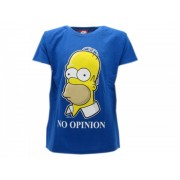 T-Shirt The Simpsons No Opinion Originale Ufficiale - Taglia L