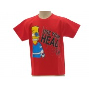 T-Shirt The Simpsons Bart Use Your Head Originale Ufficiale - Taglia L